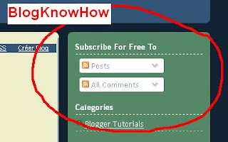 Blogger Subscription Links Widget installed on Blog Know How