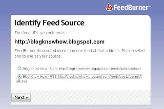 Identify Feed Source - Choose RSS