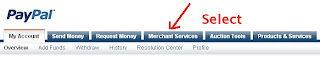 Select Paypal Merchant Services Tab