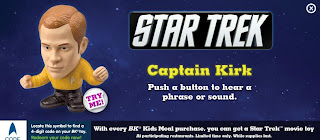 Burger King Star Trek Kids Meal Toy Promotion 2009 - Captain Kirk Figure