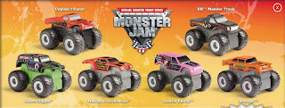 Burger King Monster Jam Trucks Toy Promotion 2009
