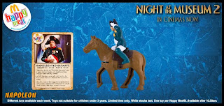 Night at the Museum 2 Happy Meal Toys from McDonalds 2009 - Napoleon Falling From His Horse