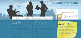 Business Talk - Free Blogger Template