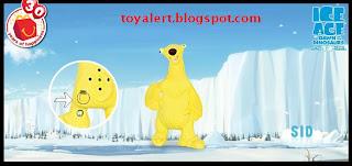 McDonalds Ice Age 3 Toys 2009 Sid