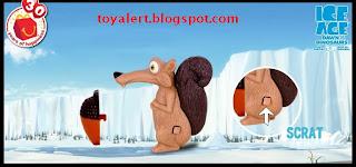 McDonalds Ice Age 3 Toys 2009 Scrat