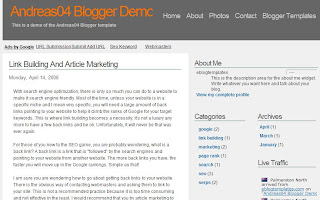 Andreas04 - Best Free Blogger Template