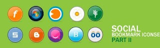 Free Social Bookmark Icons for Bloggers - Social Bookmark Iconset Part II -10 free icons