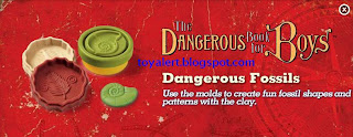 Burger King Dangerous Book for Boys 2009 Promotion - Dangerous Fossils - molds