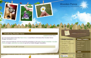Free Blogger Template - Wooden Fence