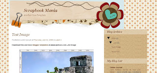 Free Blogger Template - Scrapbook Mania