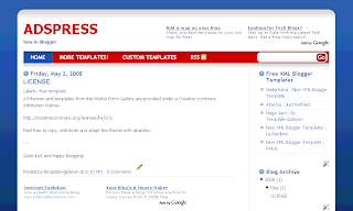 AdsPress - Free Blogger Template - Free Blogspot Template - 2 column, Adsense ready, red, white and blue