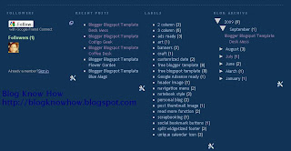 Convert Blogger Footer to a 4 Column Footer