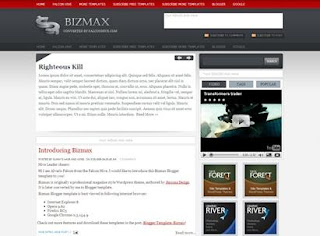 Bizmax - Free Blogger Template - search box, 3 columns, red, white and grey, business blog, tabber section, video section, content glider, featured content section, read more, 2 navigation menus