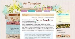 Art Template - Free Blogger Template - 3 columns, left sidebar, right sidebar, top navigation menu, RSS subscribe, search box, fixed width, stylized floral design, widget ready, white