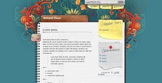 Notepad Chaos - Best Free Blogger Blogspot Templates