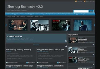 Free Blogger Template - Zinmag Remedy 2.0