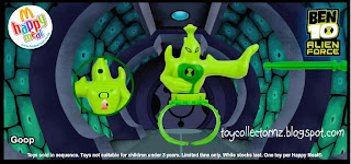 McDonalds Ben 10 Alien Force Happy Meal Toys - Goop