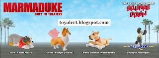 Burger King Marmaduke Kids Meal Toys Promotion - 4 of 8 Toys - Mazie, Marmaduke, Jezebel, Guiseppe