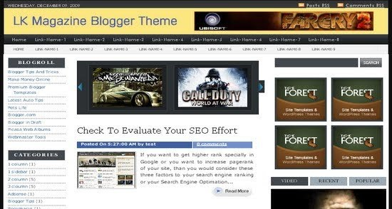 Free Blogger Template - LK Magazine