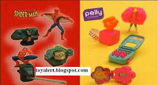 Burger King Spectacular Spider-man and Polly Pocket Kids Meal Toys 2010