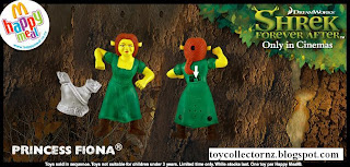 McDonalds Shrek Forever After Toys - Australia and New Zealand Happy Meal Toy Release - Princess Fiona with body armour