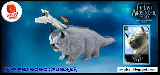 McDonalds Last Airbender Happy Meal Toys -  Appa and Momo Launcher