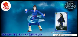 McDonalds Last Airbender Happy Meal Toys - Katara Figure and Bracelet