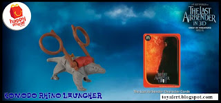 McDonalds Last Airbender Happy Meal Toys - Komodo Rhino Launcher