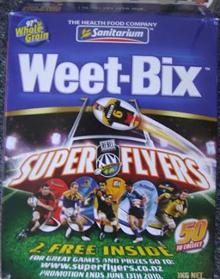 Sanitarium Super Flyers Weet-bix Box