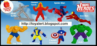 McDonalds Marvel Heroes Happy Meal Toys 2010 - Set of 8 - Captain America, Wolverine, Hulk, Iron Man, Spider-Man, The Thing, Human Torch, Silver Surfer