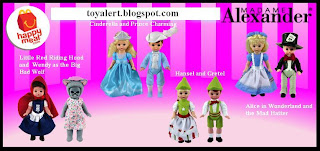 McDonalds Madame Alexander Happy Meal Toy Promotion 2010 - Set of 8 toys - Alice in Wonderland, Mad Hatter, Cinderella and Prince Charming,Hansel and Gretel, Little Red Riding Hood and Wendy as the Big Bad Wolf