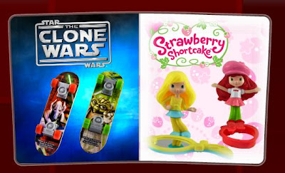 McDonalds Star Wars Clone Wars Fingerboards and Strawberry Shortcake Toys Promotion 2010