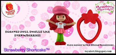 McDonalds Strawberry Shortcake Happy Meal Toy Promotion 2010 - Strawberry Shortcake 1 with baking accessory