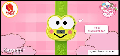 McDonalds Sanrio Hello Kitty Watches 2010  - Happy Meal Toys - Keroppi Watch