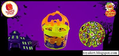 McDonalds Mr Potato Head Halloween Pails 2010 - Jack O'Lantern