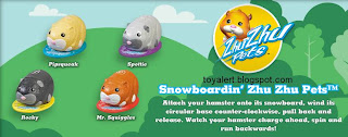 Burger King Zhu Zhu Pets Hamster Kids Meal Toys - BK kids meal promotion December 2010 - Mr Squiggles, Rocky, Spottie, Pipsqueak,