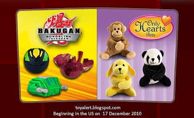 McDonalds Bakugan and Only Hearts Pets Promotion 2010 - US Release
