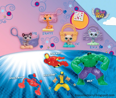 McDonalds Marvel Heroes and Littlest Pet Shop toy promotion in Australia and New Zealand 2010