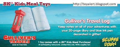 Burger King Gullivers Travels Kids Meal Toys - Gulliver's Travel Log