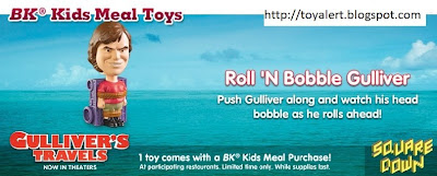 Burger King Gullivers Travels Kids Meal Toys - Roll 'n Bobble Gulliver