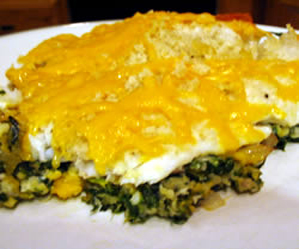 Recipes: Aunt Carol's Spinach and Fish Bake