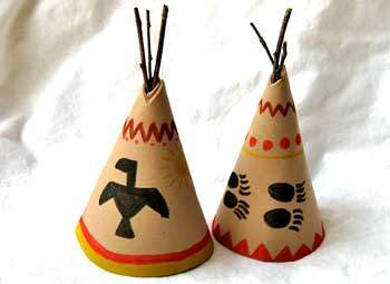 how to make a teepee out of clay
