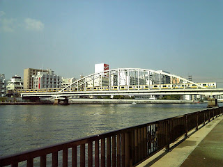 railway bridge over sumida-gawa