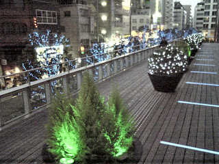 west side wood deck of akihabara UDX
