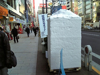 snow block on the street