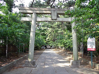 gate of the shinto shrine