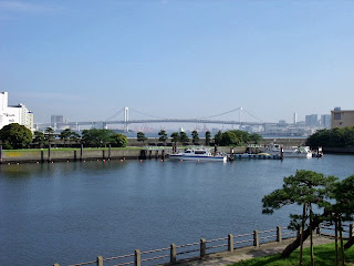 view from hama-rikyu gardens