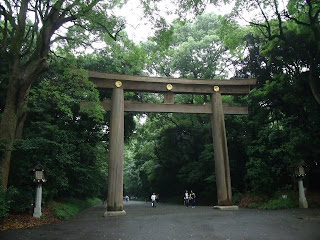 a Torii(gate) of Meiji Shrine