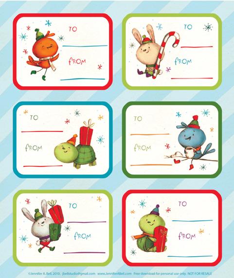 """... """"Free Childrens Christmas Printable Gift Tags"""" – Calendar 2015"""