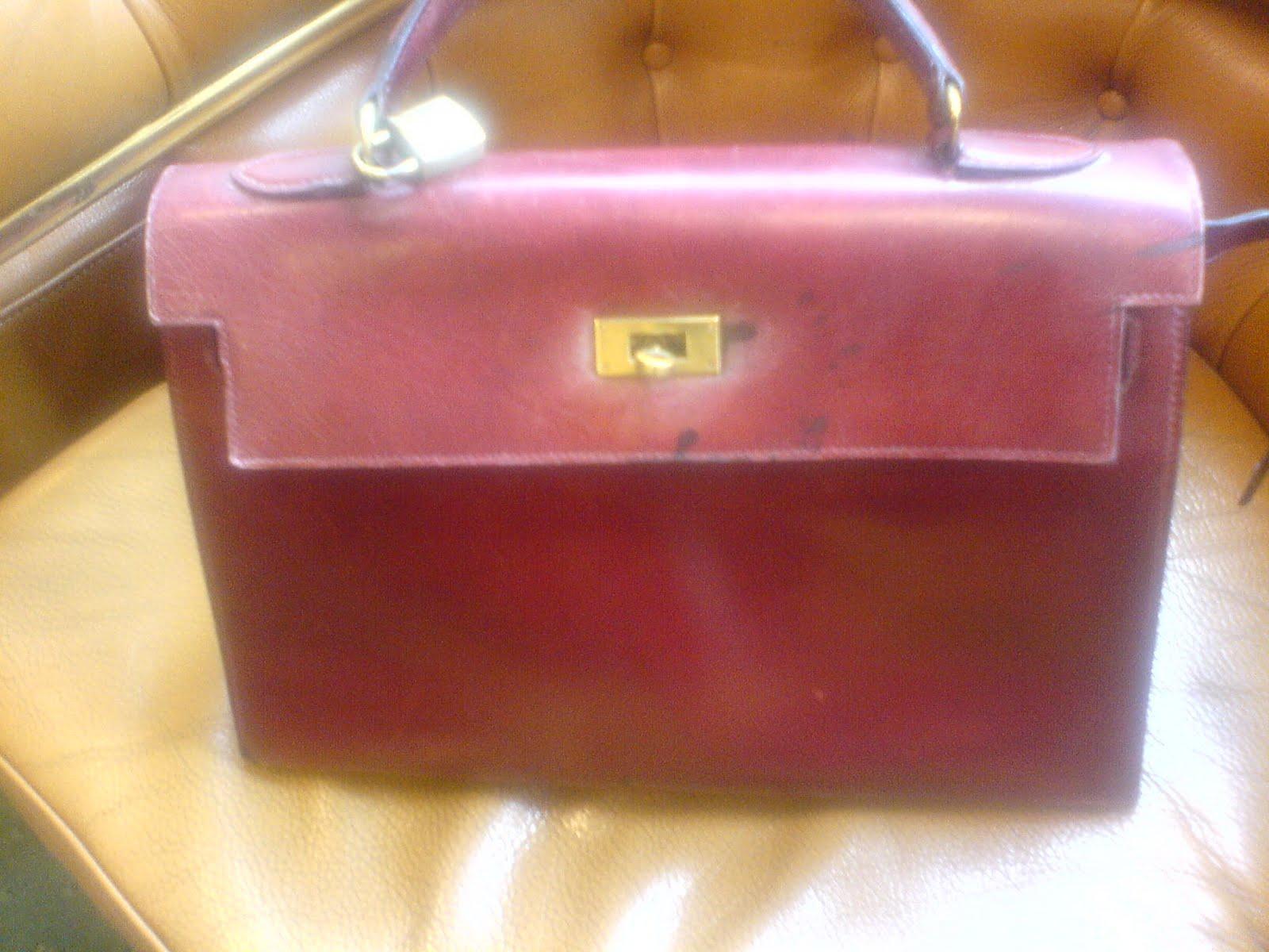 Salon cireur talon rouge paris teinture d 39 un sac hermes bordeaux en noir - Teinture rouge bordeaux ...